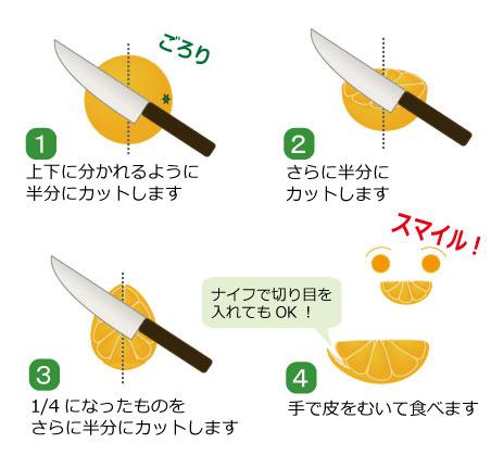 オレンジの切り方スマイルカット 果物コラム